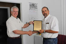 Comus receives Ohio Casualty Commendation for outstadnding safety record