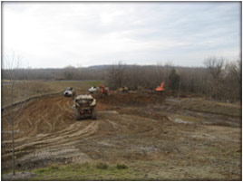 Earthwork site development, grading, and utility installation service by Comus Construction, LLC - View 1